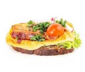 Æggekage m. bacon